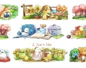 1 Roll of Limited Edition Washi Tape:  Cute Animal Garden's Dairy