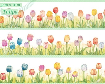 1 Roll Limited Edition Washi Tape: Tulip