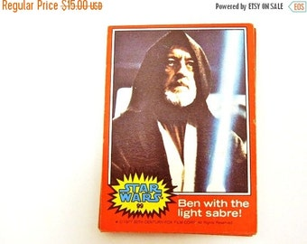 On Sale Price Star Wars Trading Cards Set of 16. Episode IV:  A New Hope. Circa 1977. Nerd Gifts. Birthday. Teacher. For the Star Wars Geek.