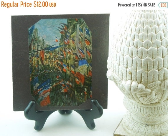 On Sale Price Ready to Ship. Paris on Bastille Day. Rue Montrogueil. French Country Home. Claude Monet.  City Apartment. Dorm. Office.