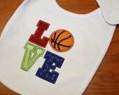 Basketball LOVE Bib for Boys