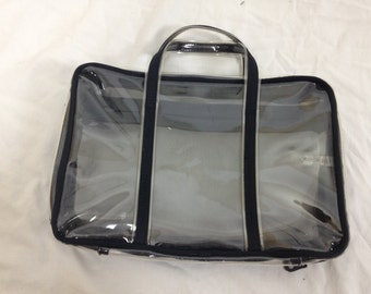 clear transparent pvc mesh bag purse