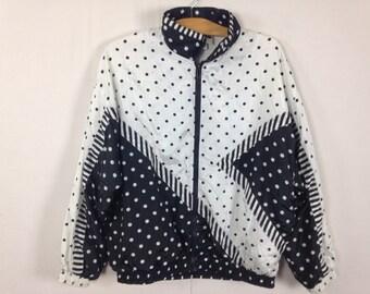 90s polka dot windbreaker jacket size S/M