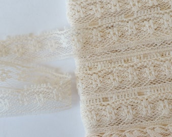 "4 yards beige lace trim 5/8"" wide"