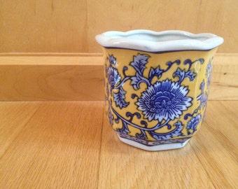 vintage Asian planter flower pot