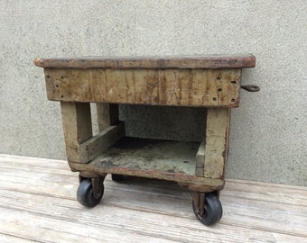 Vintage Industrial Factory Trolley Dolly Cart Fairbanks Casters