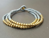 Triple  Gray Brass Bracelet