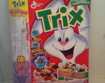 Vintage Cereal Box trix w/ beanie breakfast babies promotion