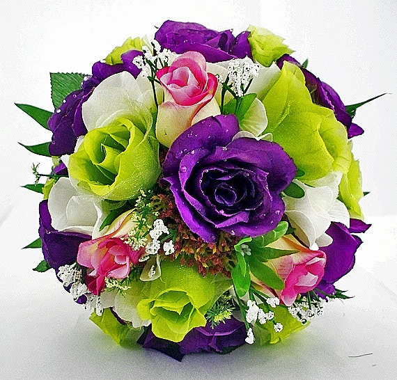Purple Pink And Green Wedding Purple And Lime Green Wedding
