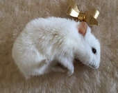 Cloud Hamster Taxidermy Brooch