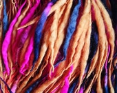 OOAK Elflocks SALE! Dreadfalls in Orange, Black & Bright Pink for Cosplay, LARP, Clubbing, Tribal Belly Dance, Festivals, Alt Fashion, Goth