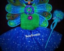 Peacock Costume/Peacock Fairy/Peacock Headband/Peacock Princess/ Halloween Costume/ First Halloween/Halloween Pageant/ Peacock Wings