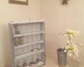 Grey Day in Paris Shelf, Cubby or Spice Rack