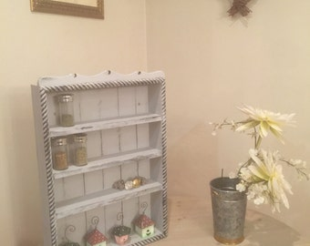 Grey Day in Paris Shelf, Cubby or Spice Rack
