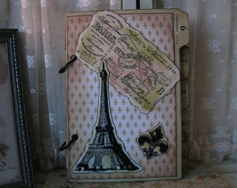 Envelope and Index Divider Paris Mini Album Junk Journal