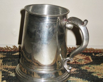 Vintage English Tankard mug Beer stein, Pewter Tankard, Made in England, Sheffield pewter,