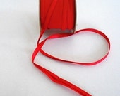 Bias Tape BRIGHT RED for Making Handmade Apron Supplies