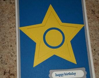 Paw patrol birthday card, paw patrol birthday, Chase patrol card, kid's birthday card, rescue birthday card, police birthday card