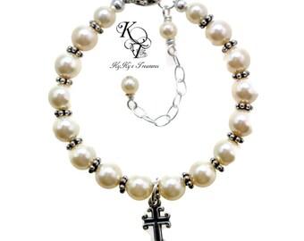 Christening Jewelry, Baby Boy Baptism Gift, Baptism Bracelet, Christening Gifts, Baby Bracelet, Religious Jewelry, Baby Girl Baptism