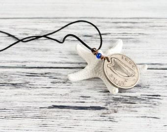 Irish Celtic Harp Coin Necklace - Vintage Irish Coin Necklace - 2s Shilling Florin Coin 1964 Birthday