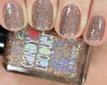 Gingerbread Girl  - handmade holographic micro glitter holiday nail polish