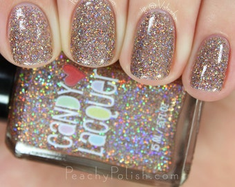 Gingerbread Girl  - handmade holographic micro glitter holiday nail polish