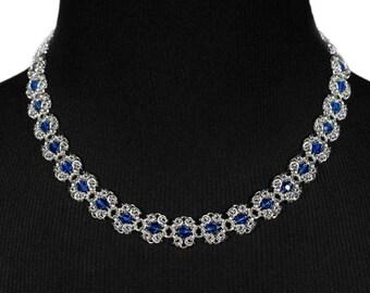 Blue Royal Ricardo Necklace   silverplated