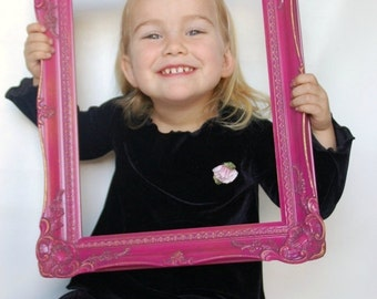 PINK ornate FRAME great for photo prop