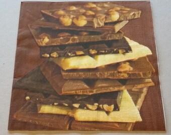 Decoupage Paper Napkin CHOCOLATE (Serviett, Serviet, Serviette, Lautasliina, Servett, Servet, Tovagliolo, Servilleta, Guardanapo)