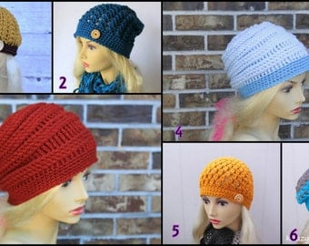 Crochet hat.Winter hat.Ready to ship hats.Size;Teen/Adult