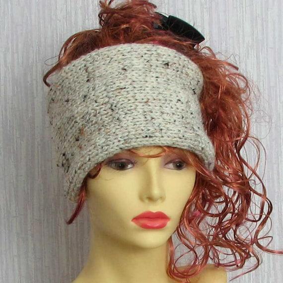 Hand Knitted Dreadlock Headband Chunky Ear Warmer Tube Hat