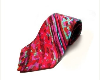 SALE Missoni Silk Necktie , Vintage Authentic Missoni Mens Necktie , Made in Italy .