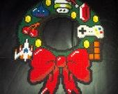 8 Bit Cross Stitch Christmas Wreath