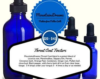 Herbal 'Throat Coat' Tincture, Herbal tincture, Healing Herbally