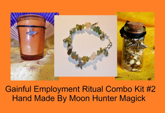 Gainful Employment Combo Kit #2 Get A Job Ritual Employment Ritual Kit