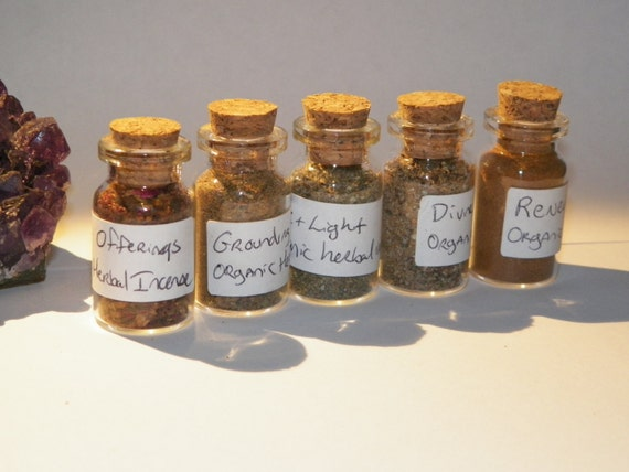 Handmade Organic Incense Sampler by Moon Hunter Magick Herbal Ritual Incense
