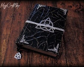 Book of Shadows ANCIENT GOTHIC with triquetra - medium size 8,27x6,3 inch (22x16 cm) CUSTOMIZABLE -  wicca paganism witch pagan