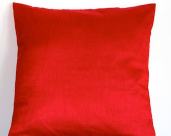 Solid Red Pillow, Red Throw Pillow Cover, Solid Pillows, Outdoor Pillow, Summer Pillow, Decorative Pillow, Accent Pillow, 18x18 pillows