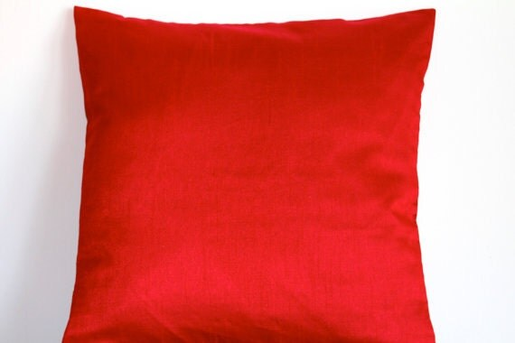 Solid Red Pillow Red Throw Pillow Cover Solid Pillows