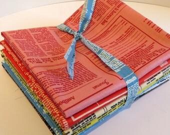 Newsprint in Small  by Suzuko Koseki for Yuwa of Japan- Bundle