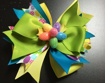 Easter Egg Hunt Hair Bow