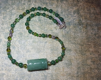 Aventurine and Swarovski Crystal Healing Necklace