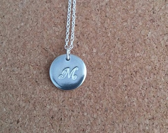 Letter M Pendant, Letter Necklace, Personalized jewelry, Initial Necklace, Name Pendant
