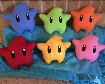 Luma Star w/ embroidered eyes plush PLUS letter from Rosalina - Super Mario Galaxy - Ready to ship
