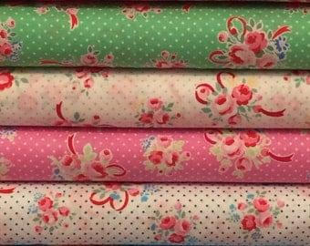 Lecien Flower Sugar Fall 2016 Sweet Carnival Collection Bundle - Polka Dots - Floral Fabric - Fabric Bundle