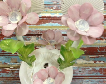 Vintage flowered light fixture