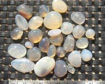 Polished Crystal Opal Cabochon Parcel 40+ Carats from Lightning Ridge