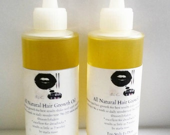 DEAL 16oz all natural hair growth oil 2 bottles