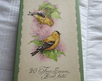 Vintage Four Season Bird Note Card Blank Assortment of 4 designs and Envelopes STUNNING Condition TVAT WLVteam EPSteam HSH Farmhouse Chic