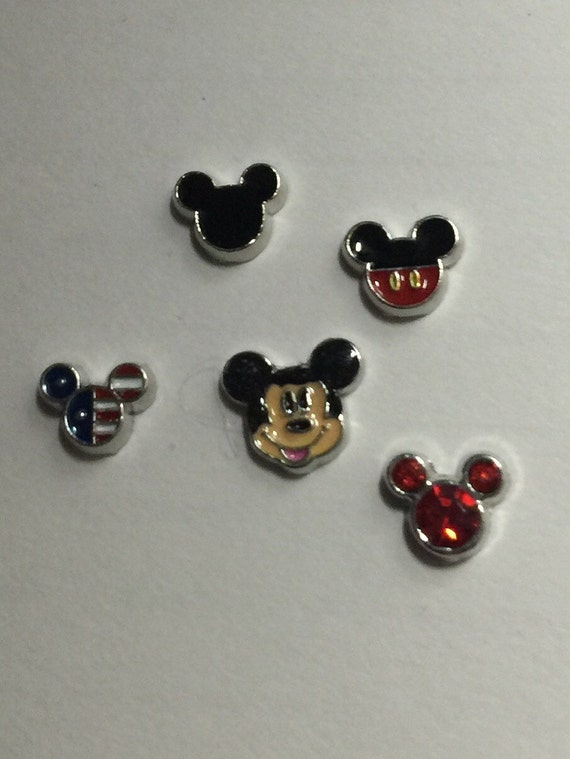 mickey mouse floating charms by jewelryandstuffbylis on etsy